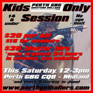Kids Only Session at CQB